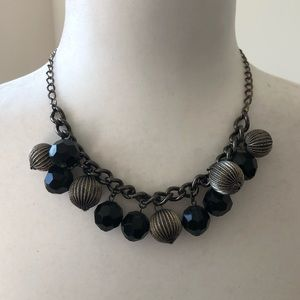 Black and Silver Bauble Necklace